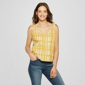 🔥 3 for $25🔥 Plaid Shoulder Tie Tank - Small